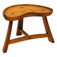 Norwegian Pine Stool from Krogenæs Møbler, 1970s