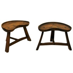 Norwegian Pine Stool Pair from Krogenæs Møbler, 1970s
