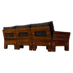 Norwegian Sofa in Rosewood and Antracite Velvet