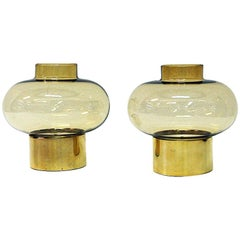 Norwegian Vintage Pair of Brass Candleholders by Colseth, 1960s