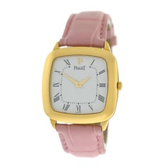 NOS Ladies Piaget Coussinet 18 Karat Solid Yellow Gold Mechanical Watch
