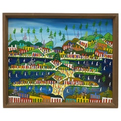 "Nosirel Depal 'Haiti, 20th Century' ""Caribbean Life"" Original Painting"