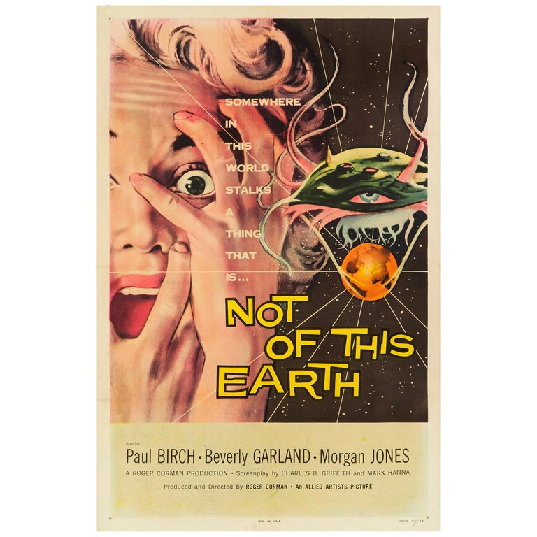 'Not Of This Earth' Original US One Sheet Movie Poster by Albert Kallis, 1957 For Sale