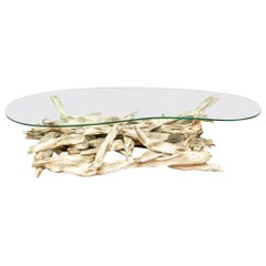 Notable Mid Century Driftwood Top Cocktail Table