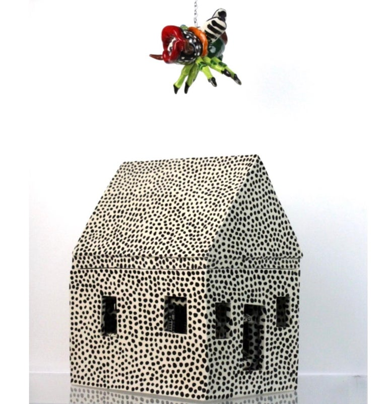 American Noted Artist Ceramic Bug House Sculpture 1978- from Bass Museum For Sale
