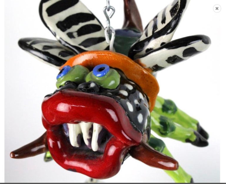 Noted Artist Ceramic Bug House Sculpture 1978- from Bass Museum In Excellent Condition For Sale In West Palm Beach, FL