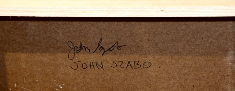 Contemporary Noted California Artist John Szabo Diptych For Sale