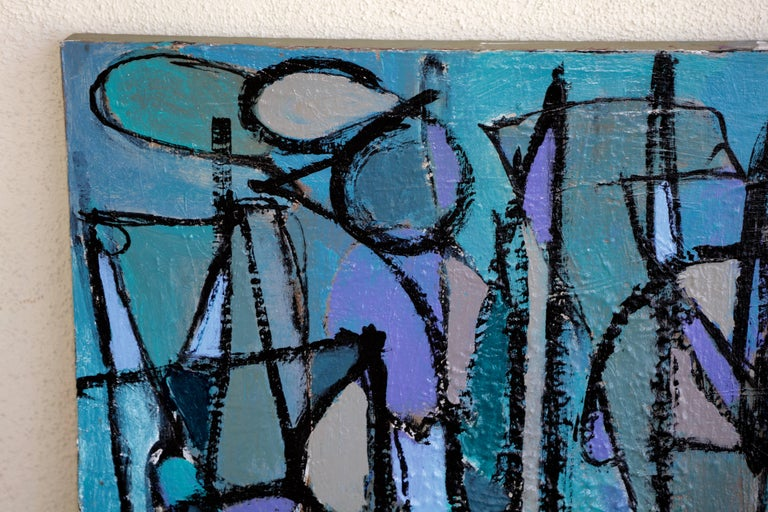 Painted Noted San Diego Artist Kenneth Joaquin Acrylic on Canvas Titled