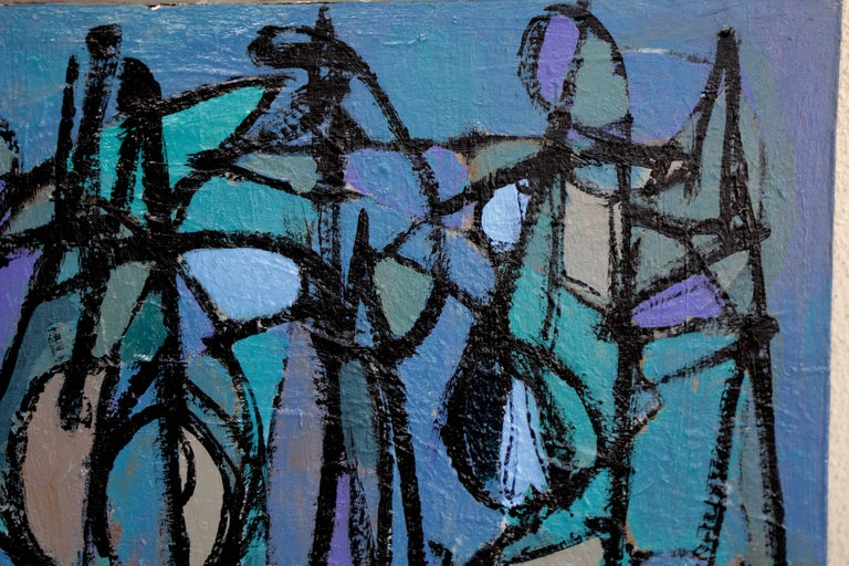 Noted San Diego Artist Kenneth Joaquin Acrylic on Canvas Titled