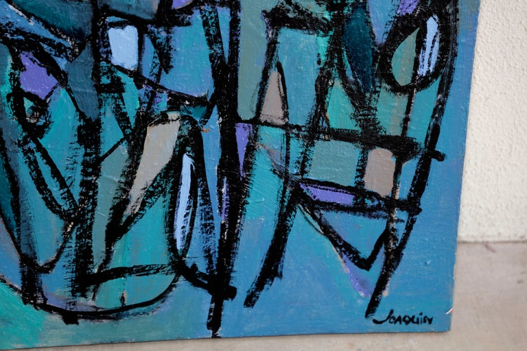 Contemporary Noted San Diego Artist Kenneth Joaquin Acrylic on Canvas Titled