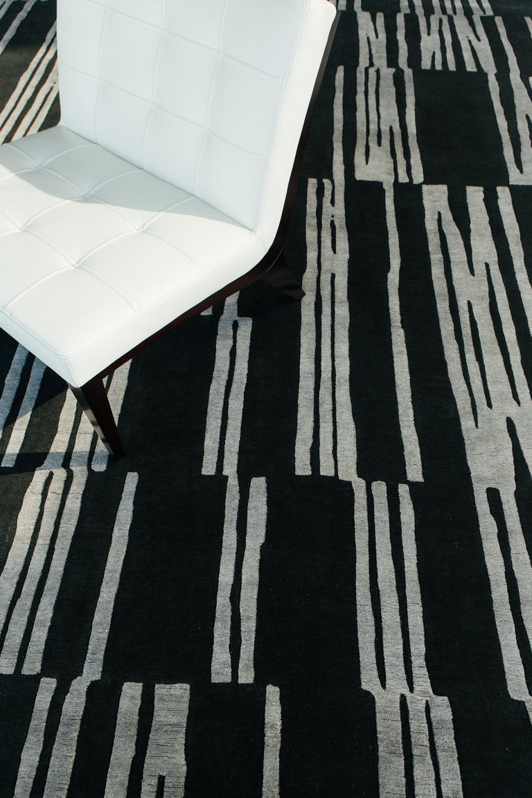 Notes, Design Rhymes by Mehraban Rugs In New Condition For Sale In WEST HOLLYWOOD, CA