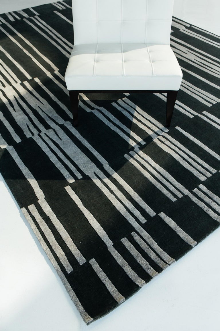 Wool Notes, Design Rhymes by Mehraban Rugs For Sale