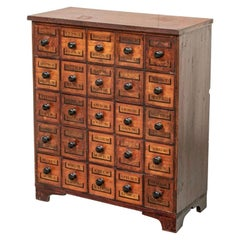 Noteworthy Antique Mahogany Apothecary Cabinet