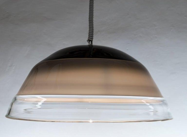 Noti Massari Renato Toso for Leucos, Rare 3 Incalmos Suspension Layered Glass For Sale 6