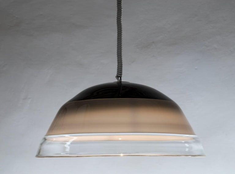 Noti Massari Renato Toso for Leucos, Rare 3 Incalmos Suspension Layered Glass For Sale 7