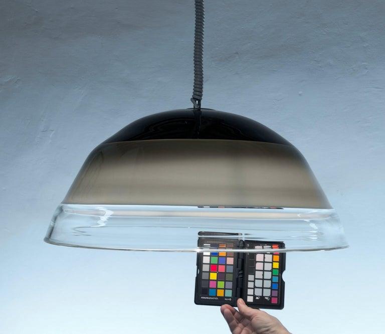 Noti Massari Renato Toso for Leucos, Rare 3 Incalmos Suspension Layered Glass For Sale 8