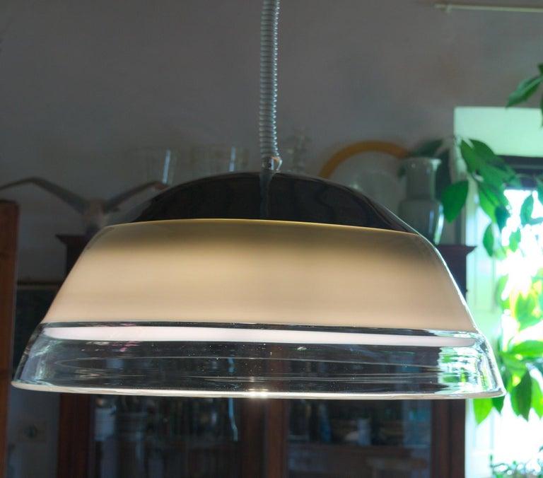 European Noti Massari Renato Toso for Leucos, Rare 3 Incalmos Suspension Layered Glass For Sale