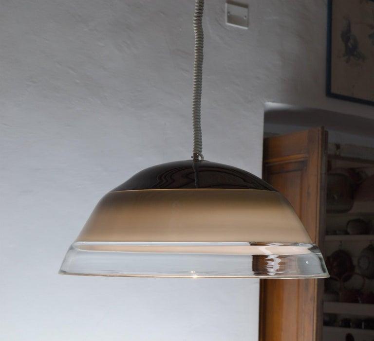 Noti Massari Renato Toso for Leucos, Rare 3 Incalmos Suspension Layered Glass For Sale 2