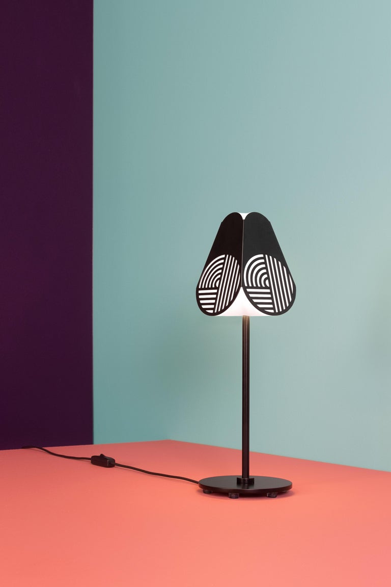 Iron Notic Table Lamp by Bower Studio For Sale