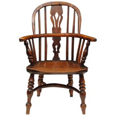 Nottinghamshire Yew Wood Childs Windsor Armchair