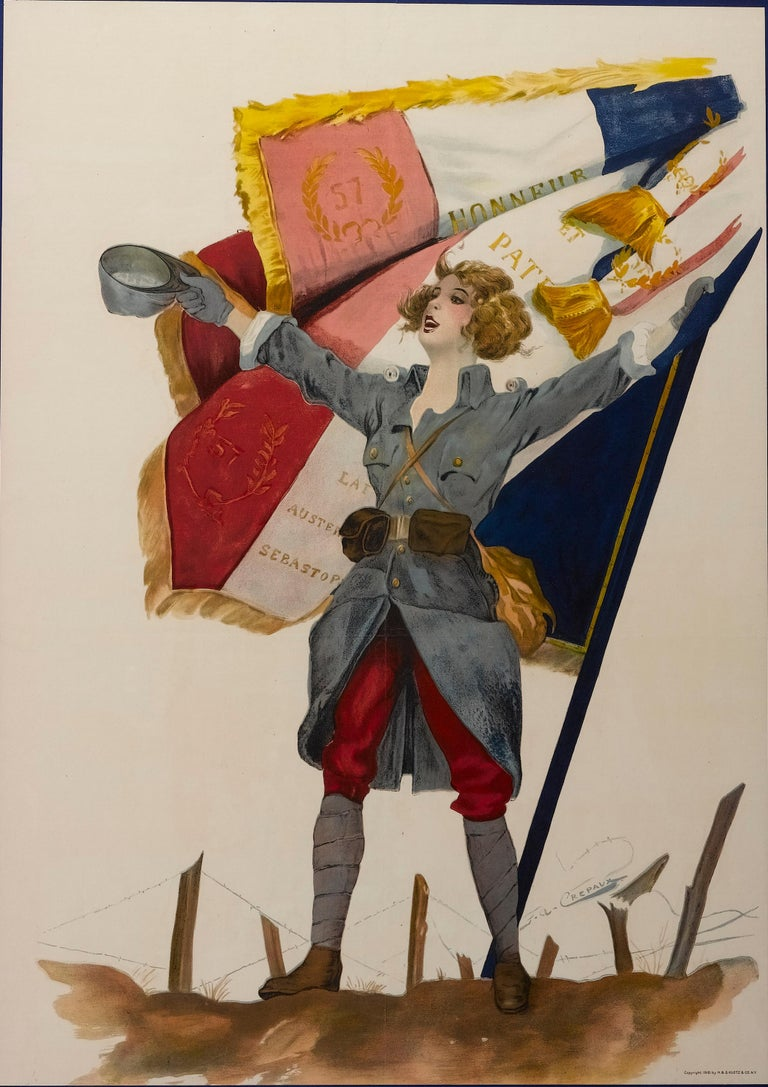 American Nous Les Aurons / Buy More Liberty Bonds WWI French Poster, circa 1918 For Sale