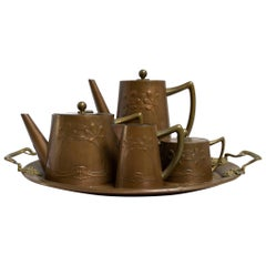 Nouveau Copper Coffee Set