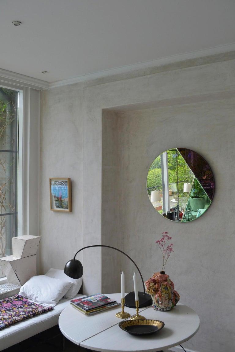 Danish Nouveau Design Colorful Mirror For Sale