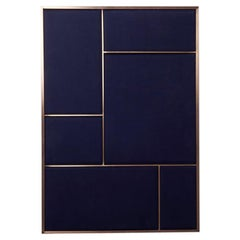 Nouveau Large Pin Board in Navy Blue & Brass Frame by All The Way To Paris