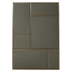 Nouveau Large Pin Board in Oyster Grey & Brass Frame by All The Way To Paris