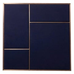 Nouveau Medium Pin Board in Navy Blue & Brass Frame by All The Way To Paris