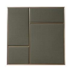 Nouveau Medium Pin Board in Oyster Grey & Brass Frame by All The Way To Paris