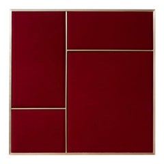 Nouveau Medium Pin Board in Rouge Noir & Brass Frame by All the Way to Paris
