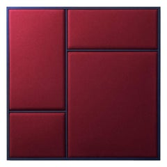 Nouveau Medium Pin Board in Rouge Noir & Navy Blue Frame, All The Way To Paris