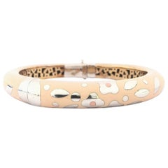 Nouvelle Bague Enamel and Gold Ladies Bangle B672BX