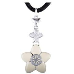 Nouvelle Bague India Preziosa 18 Karat Gold and Sterling Silver Necklace