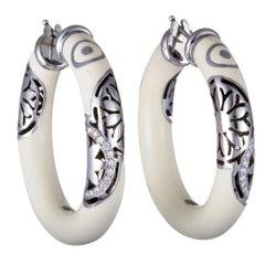 Nouvelle Bague India Preziosa 18K White Gold & Sterling Silver Diamond Pave