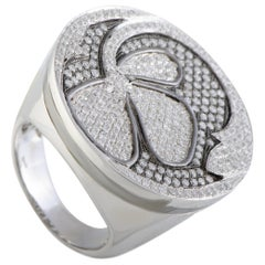 Nouvelle Bague Petali 18 Karat White Gold Diamond Ring