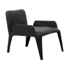 Nova Black Armchair with Armrests