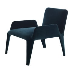 Nova Blue Armchair with Armrests
