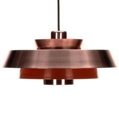 Nova Copper Pendant Light by Jo Hammerborg for Fog & Morup in 1963