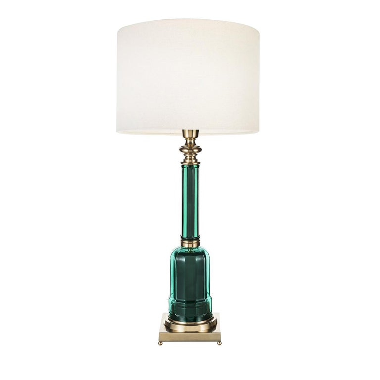 Italian Novecento Lamp Timeless Line Green For Sale