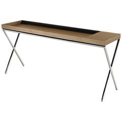 Novel Console Table TV Coffee Hidden Leather Compartment by LEMA