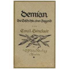 Novel Demian, The Story of Emil Sinclair's Youth by Hermann Hesse, Berlin, 1919