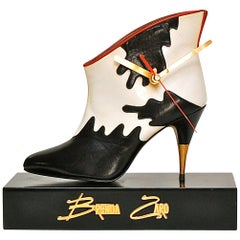 Novelty Ankle Boot Desk Clock, Late 20th Century