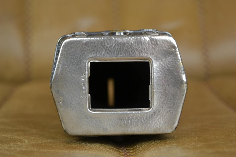 Novelty Antique Silvered French Bulldog Money Box, Germany, 1920s For Sale 9
