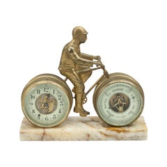 Novelty Desk Cycling Clock with Barometer