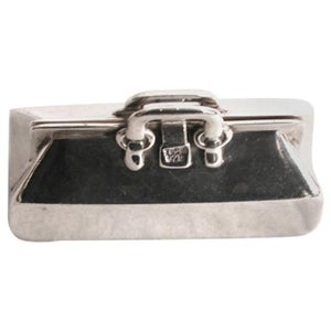 Novelty Silver Tiffany & Co Gladstone Case Pill Box Dated, circa 1980