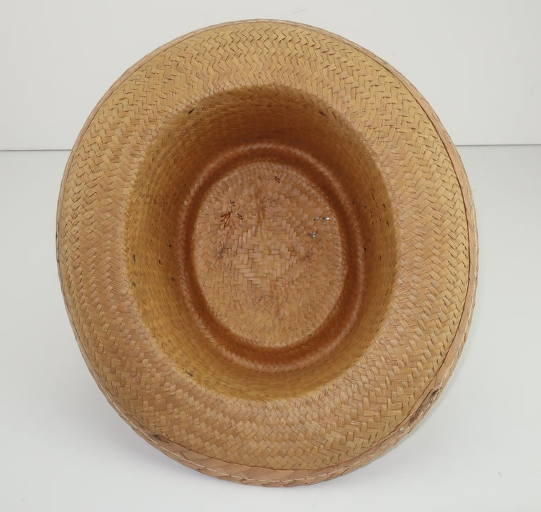 Novelty Straw Beach Hat With Monkey, C.1960 For Sale 4