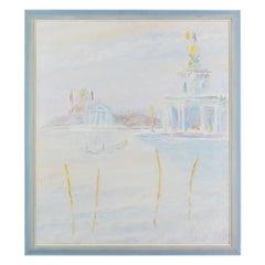 November Sunrise By artist Hugh Barnden, Acrylic 1986, Francis Kyle Gallery