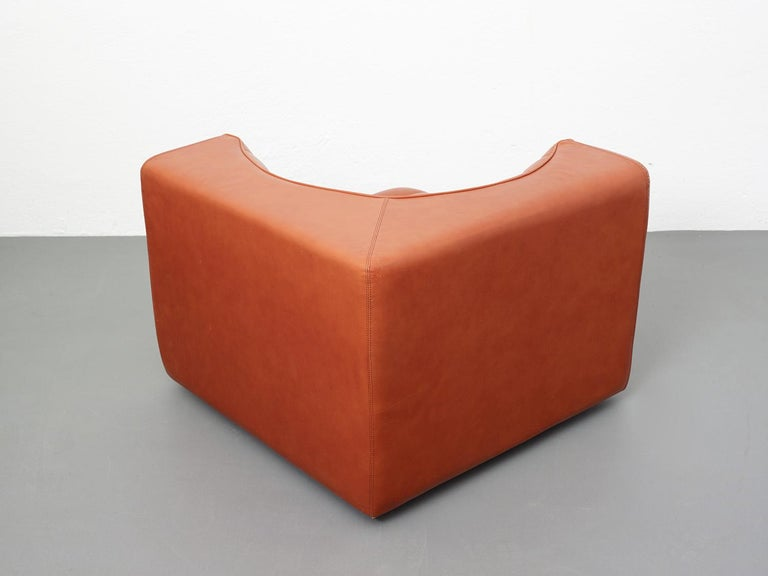Novemila Leather Sofa by Tito Agnoli, Arflex, Italy, 1969 For Sale 6